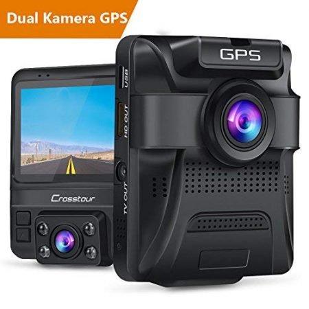 Crosstour Dashcam CR750 (zwei Objektive, GPS, Infrarot) für 53,99€ inkl. Versand