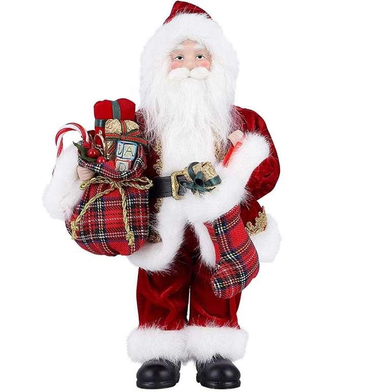 30cm großer Deko Weihnachtsmann von Himaly für 4,99€ inkl. Prime Versand (statt 10€)