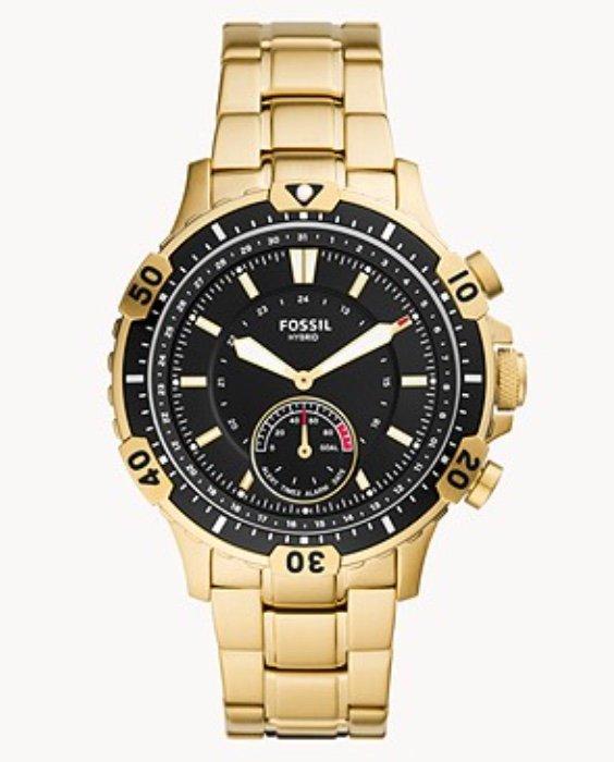 Fossil: 60% Rabatt auf ausgewählte Produkte - z.B. Hybrid Smartwatch Garrett Edelstahl für 79,60€ (statt 199€)