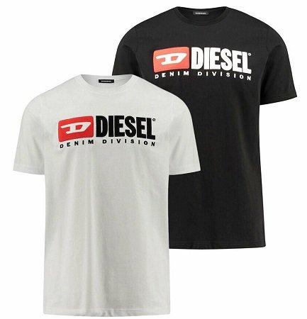"""Diesel Herren T-Shirt """"Division"""" schwarz oder weiß je 39,99€"""