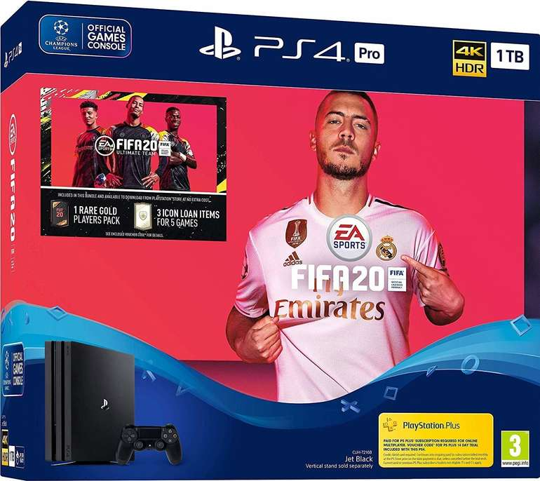 Sony Playstation 4 Pro 1TB + FIFA 20 Ultimate Team ab 317,59€ zzgl. VSK (statt 349€)