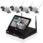Inkovideo: 4 HD WLAN Kameras mit 4-Kanal-Rekorder & Monitor für 219,90€