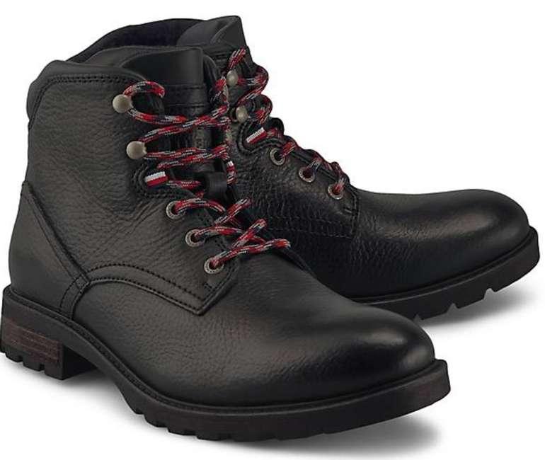 Tommy Hilfiger Textured Lace-Up Leder-Boots für 61,20€ inkl. Versand (statt 72€)