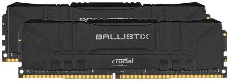 Crucial Ballistix Black 16GB DDR4 PC3000 CL15 2x8GB Arbeitsspeicher für 72,05€ inkl. Versand (statt 81€)
