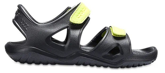 "Crocs Kids Sandalen ""Swiftwater River"" in Schwarz für 16,94€ inkl. VSK"