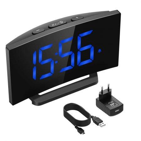 "Mpow - Digitaler Wecker (5"" LED-Display, Snooze) für 9,59€ (Prime)"