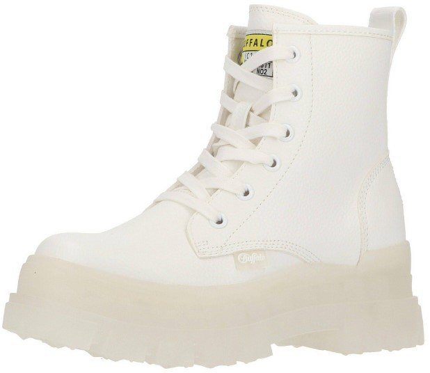 Buffalo Aspha Rld Bootie Flat Damen Boots in Weiß für 71,99€ inkl. Versand (statt 80€)