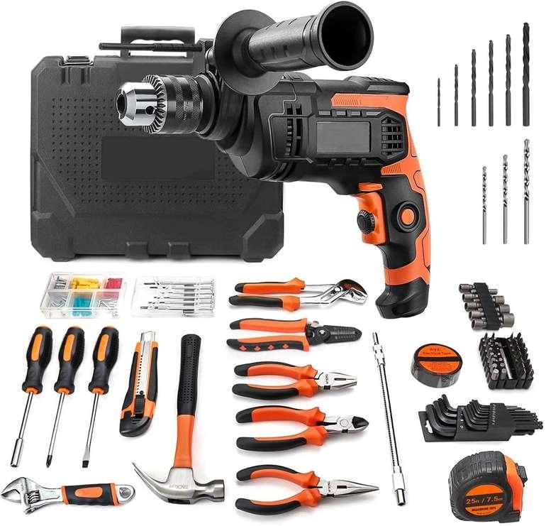 TTTTTTT 800W Schlagbohrmaschine inkl. 145-teiliges Werkzeug Set für 34,99€ inkl. Versand (statt 70€)