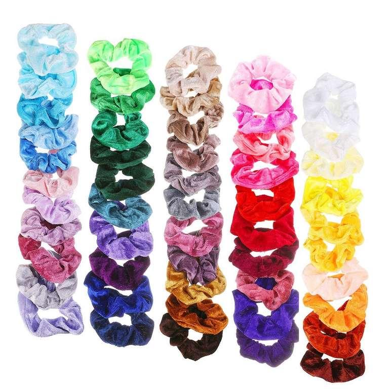 Nasum 52 farbige Samt Haargummis für 9,09€ inkl. Prime Versand (statt 13€)