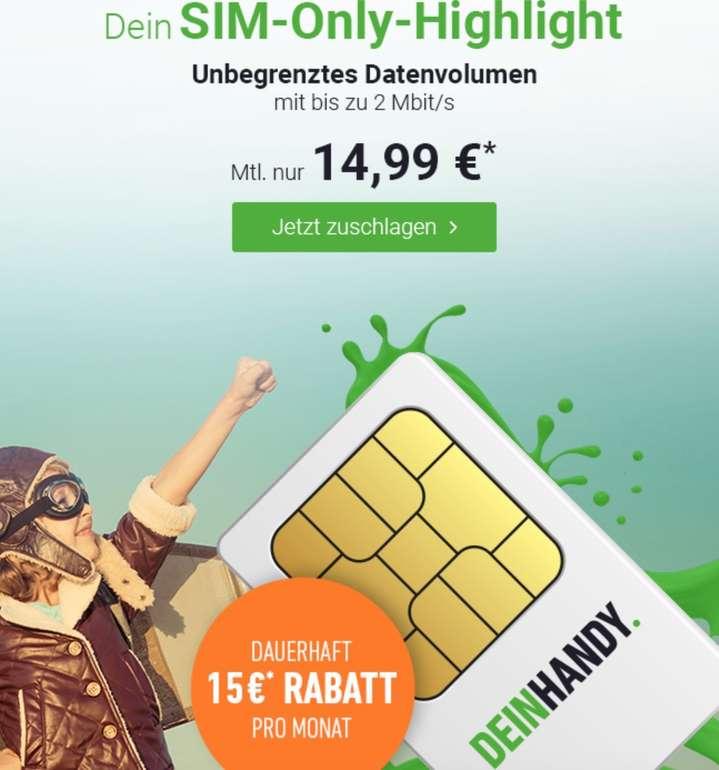 mobilcom debitel Free Unlimited Basic - Allnet Flat mit unbegrenztem LTE Volumen für 14,99€ mtl.