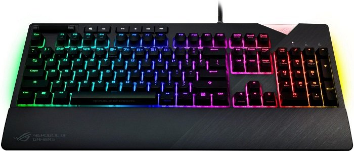 Asus ROG Strix Flare MX Red Gaming Tastatur mit RGB LED Beleuchtung für 131,92€