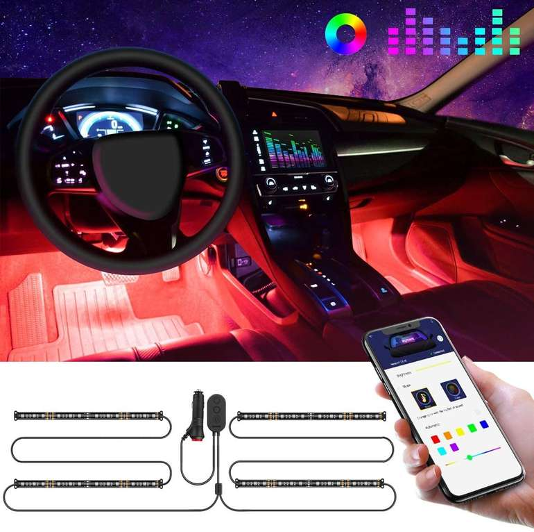 Govee Auto LED-Innenraumbeleuchtung mit App-Steuerung für 12,64€ inkl. Prime Versand (statt 23€)