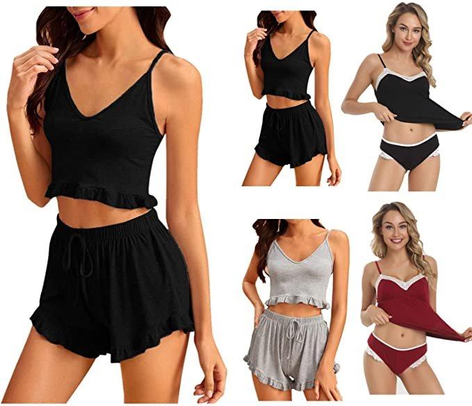 Dtuta verschiedene Damen Schlafanzüge ab 7,99€ inkl. Versand (statt 12€)