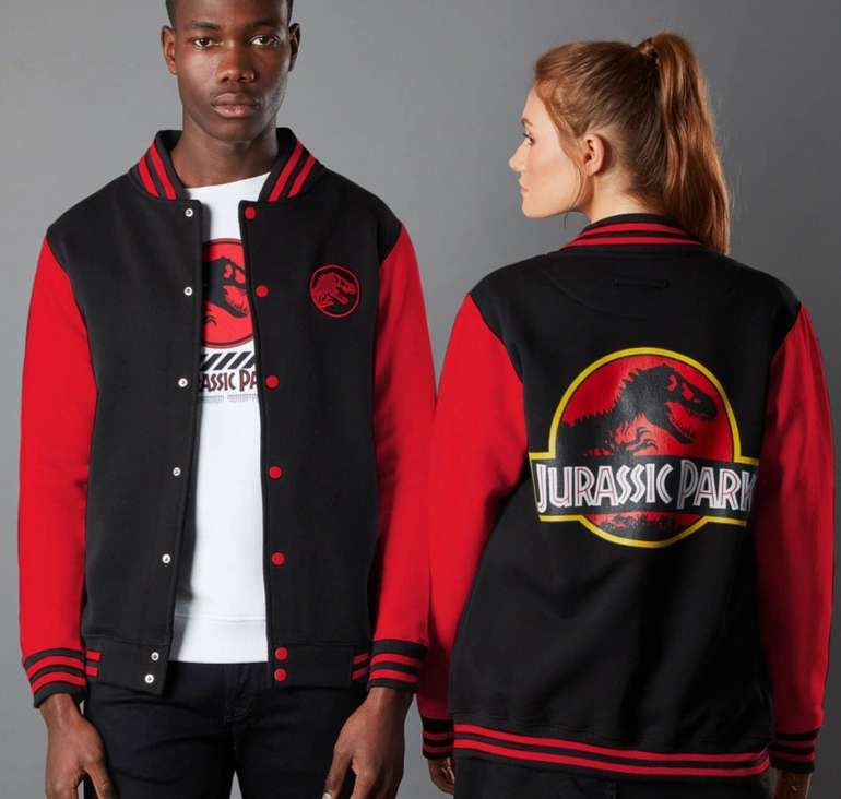Jurassic Park Collegejacke + T-Shirt für 26,99€ inkl. Versand (statt 57€)