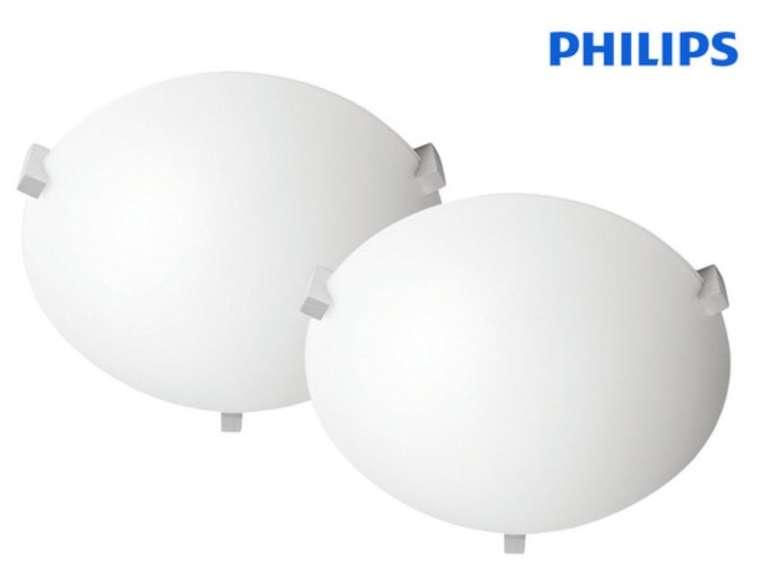 """2x Philips Decken-Leuchte """"myLiving Cevel"""" (E27-Fassung, 317 x 317 mm, Glas/Metall) für  28,90€ (statt 43€)"""