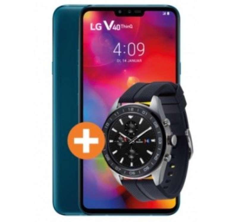 LG V40 ThinQ + LG W7 Watch (4,95€) +  Vodafone Young M 25GB GigaKombi Basic Phone für 19,99€ mtl. (D2)