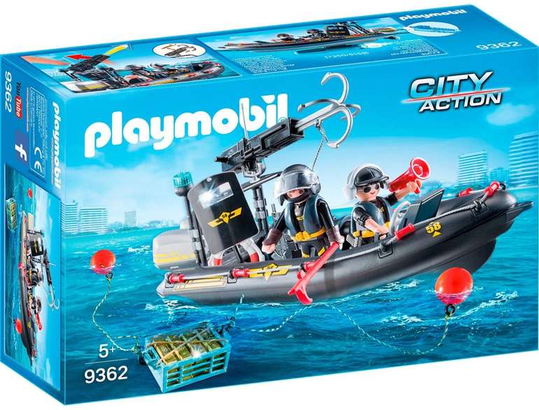 Playmobil City Action 9362 - SEK-Schlauchboot für 19,99€ (statt 33€) - Prime Versand!