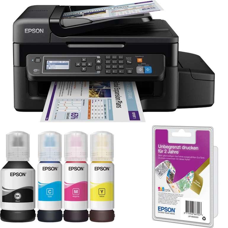Epson EcoTank ET-4500 Tintenstrahl Multifunktionsdrucker inkl. Unlimited Printing für 189€ (statt 263€)