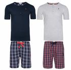U.S. POLO ASSN. Herren Pyjama Set kurz + Socken für 19,98€