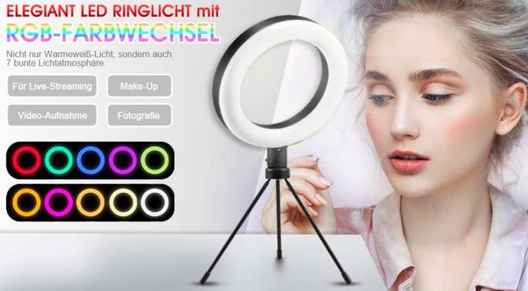"Elegiant LED-Ringlicht 8"""