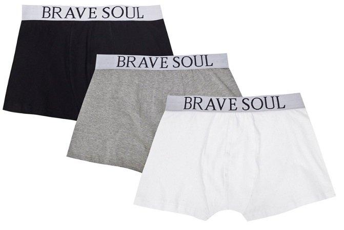 3er Pack Brave Soul Clark Herren Boxershorts für je nur 8,99€ zzgl. 3,95€ VSK