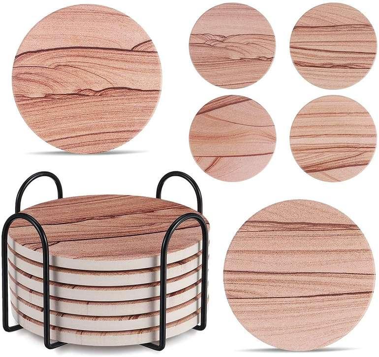 Joseko 6er Pack Keramik Untersetzer mit Korkboden für 8,99€ inkl. Prime Versand (statt 10€)