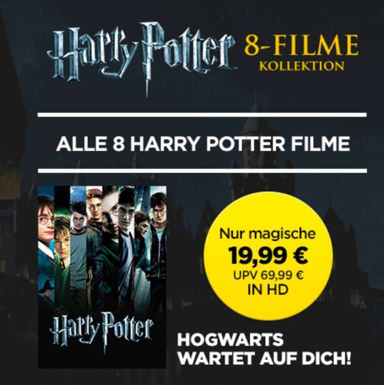 Alle Harry-Potter-Filme in HD für 19,99€ (digitaler Download)