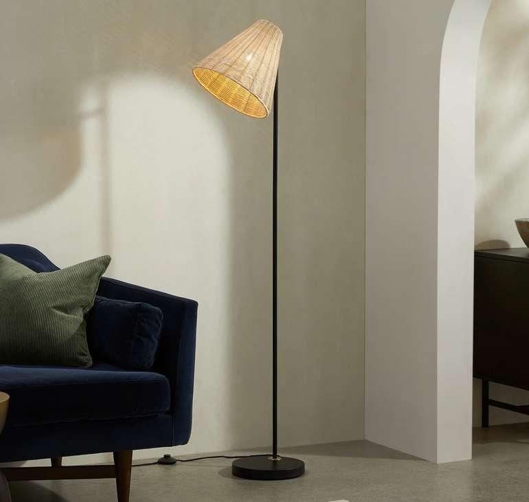 Joslin Stehlampe aus Rattan für 75€ inkl. Versand (statt 129€)