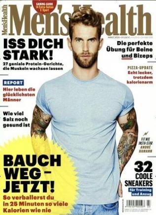 Men's Health im Jahresabo für 58€ + 50€ estChoice Einkaufs-Gutschein