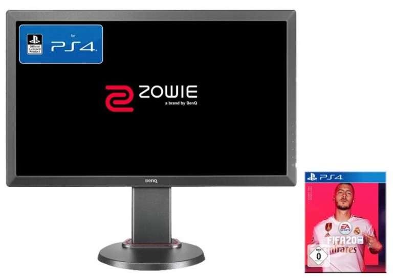 BenQ Zowie 24 Zoll Full-HD Monitor (1ms) + FIFA 20 (PS4) für 169€ (Vergleich: 237€)