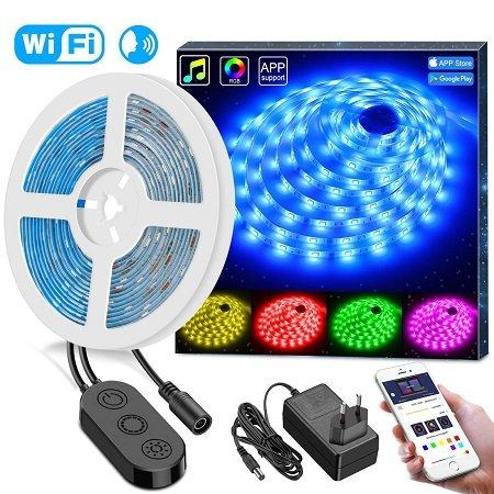 Minger – 5 Meter RGB LED Lightstrip mit WiFi-Steuerung für 19,49€ inkl. Versand