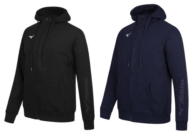 Mizuno Multisport Herren Kapuzen Sweatjacke in schwarz oder blau für 23,94€ inkl. Versand (statt 35€)