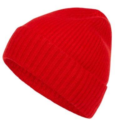 McNeal Mütze aus Kaschmir in Rot und Gelb für 12,99€ inkl. Versand (statt 20€)