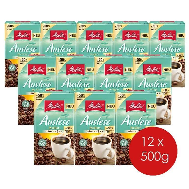 Melitta Gemahlener Röstkaffee 12er Pack (12 x 500 g, entkoffeiniert) für 28,47€ (statt 53€)