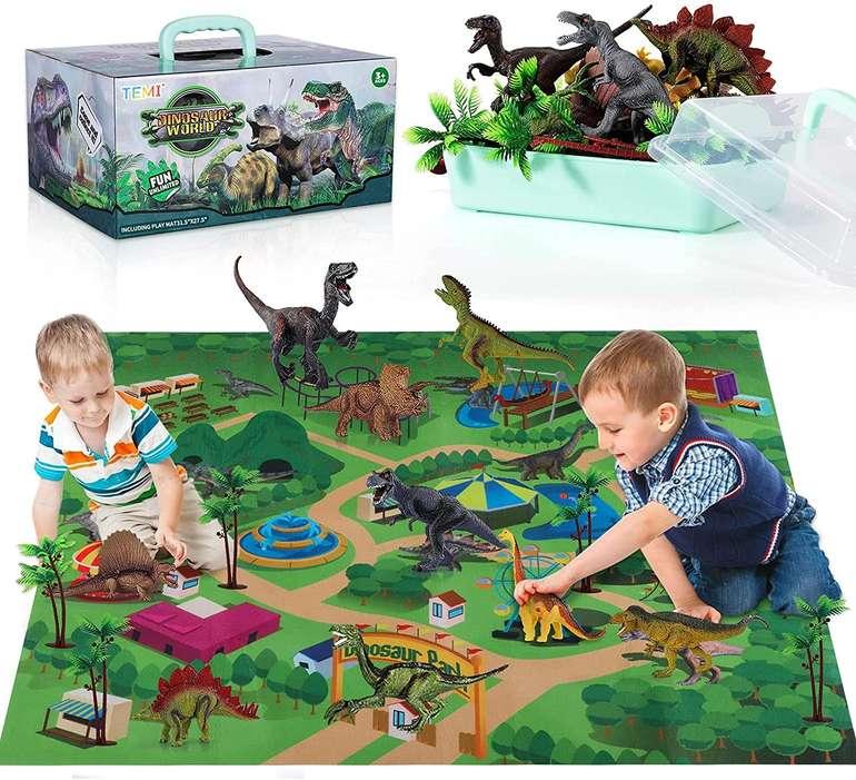 Temi Dinosaurier Spielzeug Set inkl. Spielmatte für 14,79€ inkl. Prime Versand (statt 25€)