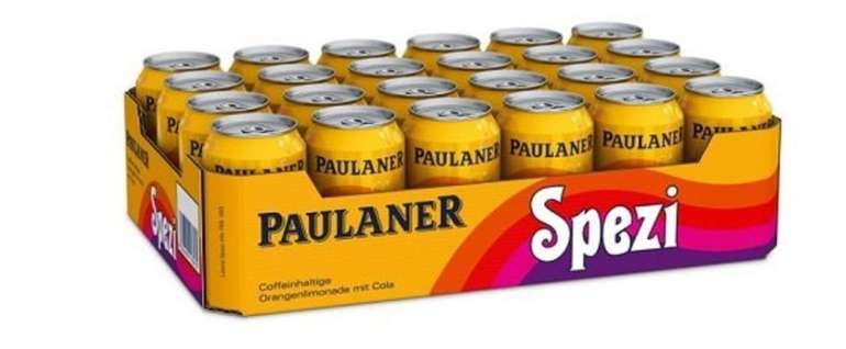 72 x 0,33 Liter Dosen Paulaner Spezi für 45,87€ inkl. Versand (18€ Pfand inklusive!) = 0,37€ proDose