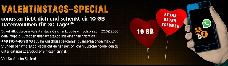 Congstar Valentinstags-Special