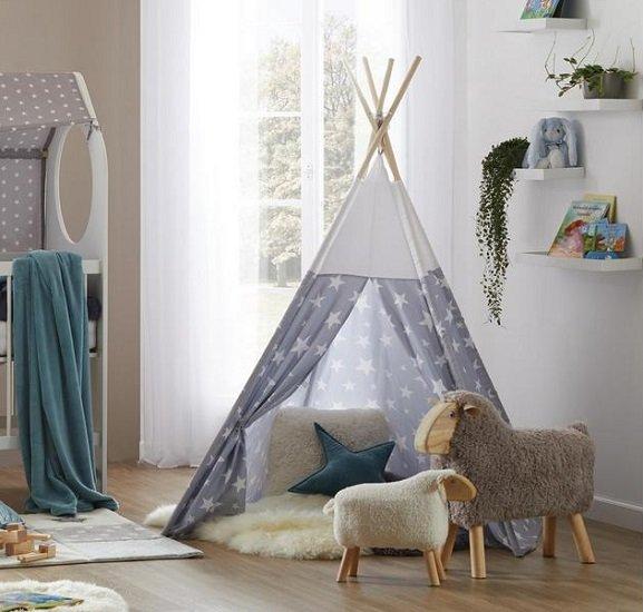 Mömax Kinderzelt (Durchmesser ca. 120 cm) im Stern-Design für 22,46€ (statt 30€)