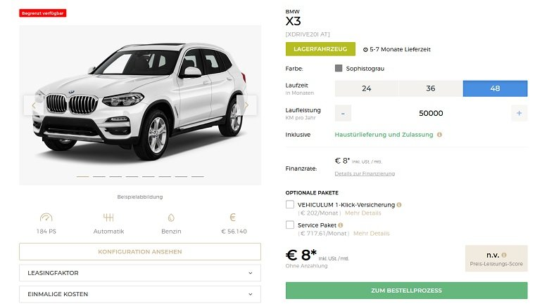 BMW X3 Leasing 2