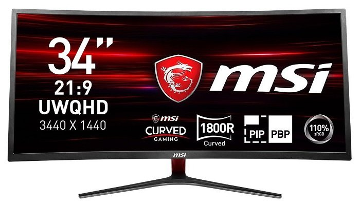 "MSI Optix - 34"" MAG341CQ Curved UWQHD LED Gaming-Monitor 100Hz für 404,95€"