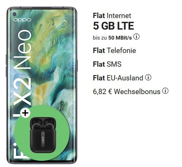 Oppo Find X2 Neo 5G o2 Allnet-Flat 6GB LTE 3