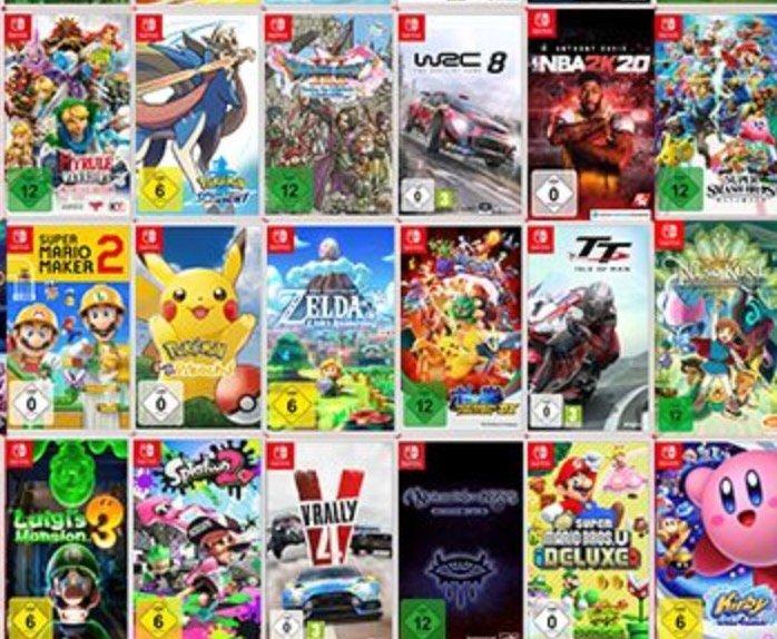 Media Markt: 3 Nintendo Switch Spiele für 111€ zzgl. Versand (über 50 Titel zur Auswahl)