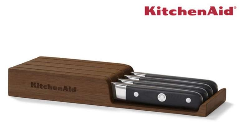 """4-tlg. KitchenAid Steak-Messer-Set """"KKFTR04SKWM"""" im Holzblock für 48,90€ (statt 90€)"""