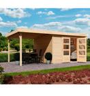 10% Rabatt auf Geräte- und Gartenhäuser - Karibu Arnis 3 Gartenhaus für 749,94€