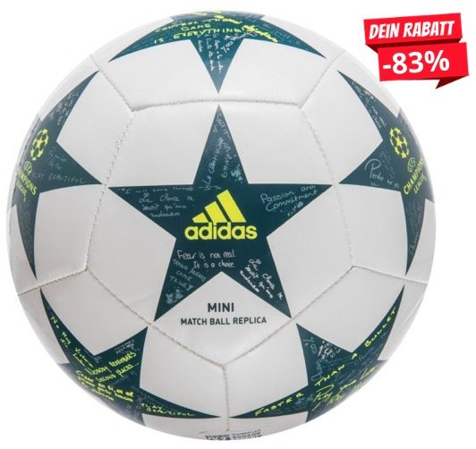 Adidas UEFA Champions League UCL Finale Mini-Fußball für 2,22€ + Versand