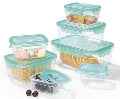 14-tlg. Hoberg Frischhaltedosen Set mit 4-fach-Klick-Verschluss für 19,90€