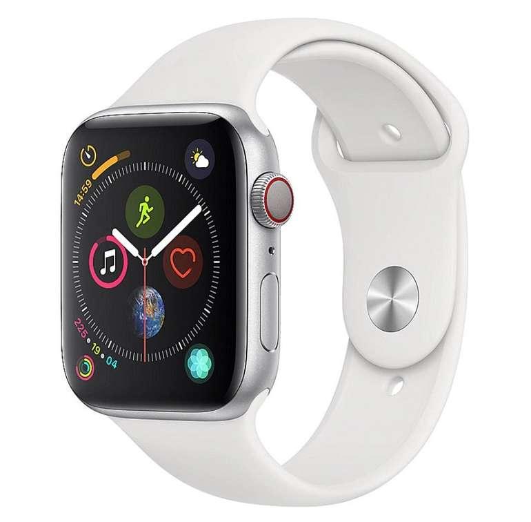 Apple Watch Series 4 (GPS + Cellular, 44mm) mit Aluminiumgehäuse und Sportarmband für 389€ (statt 489€)