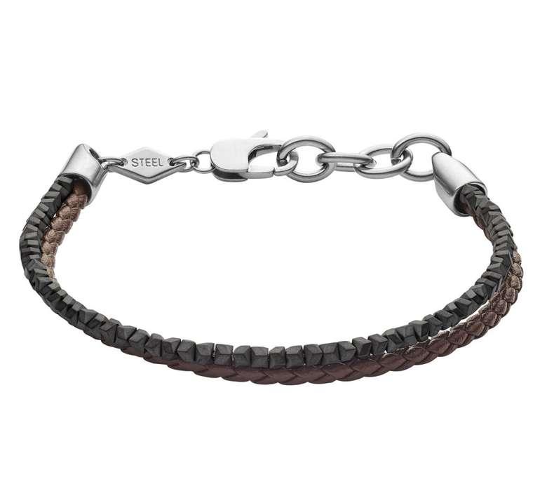 Fossil Herren Armband Heritage Hämatit (JF03435040) für 21,70€ inkl. Versand (statt 31€)