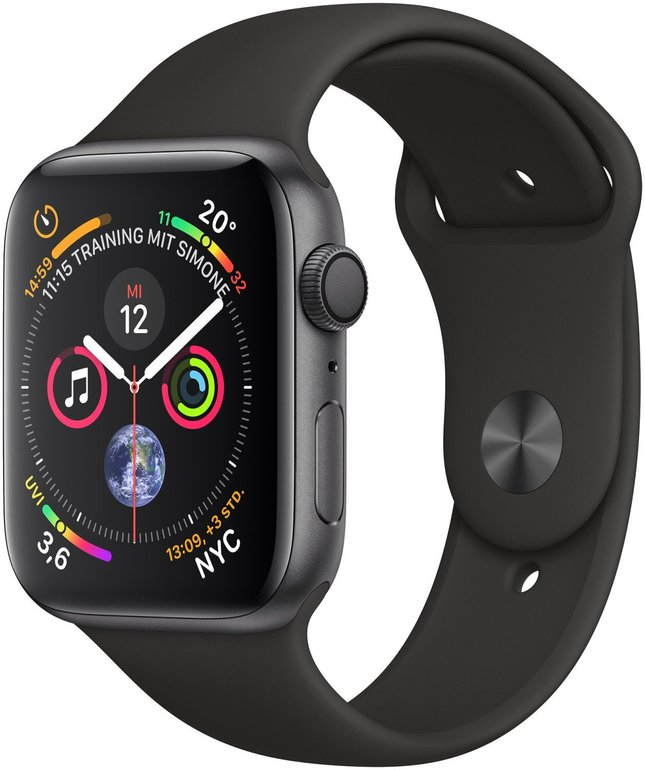 Apple Watch Series 4 GPS 44mm Alu-Gehäuse für 396,81€ inkl. Versand (statt 416€)