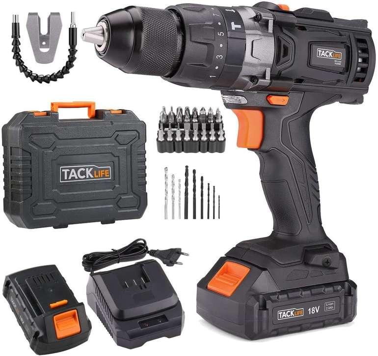 Tacklife - Akku-Schlagbohrschrauber PCD04B 18V (2 x 2,0 Ah Li-Ion) für 69,99€ inkl. Versand (statt 90€)